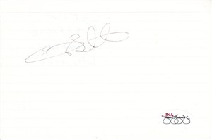 Gary Sheffield autographed 4x6 inch index card (JSA)
