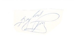 Gaylord Perry autograph or cut signature mounted on 3x5 index card