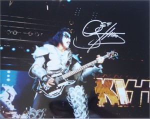 Gene Simmons autographed KISS concert 11x14 photo (Real Deal)