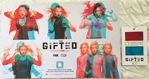 Gifted 2018 San Diego Comic-Con 11x17 Fox promo poster with viewer