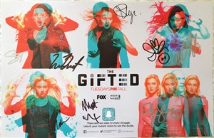 Gifted cast autographed 2018 Comic-Con 11x17 mini poster (Natalie Alyn Lind Stephen Moyer Sean Teale)