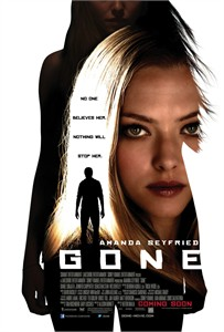 Gone mini movie poster (Amanda Seyfried)