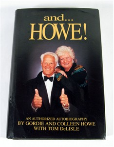 Gordie Howe and HOWE! hardcover book