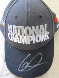 Gorgui Dieng autographed Louisville Cardinals 2013 NCAA Basketball National Champions Nike locker room cap or hat