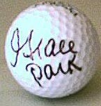 Grace Park autographed golf ball
