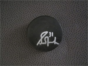 Grant Fuhr autographed blank hockey puck