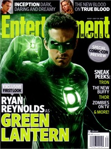 Green Lantern 2010 Comic-Con Entertainment Weekly magazine (Ryan Reynolds)