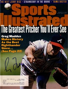 Greg Maddux autographed Atlanta Braves 1995 Sports Illustrated