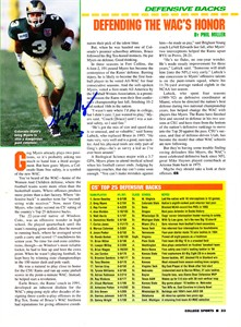 Greg Myers autographed Colorado State Rams football magazine photo