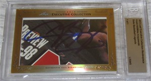 Grant Hill & Mike (Coach K) Krzyzewski certified autograph 2013 Leaf Executive Masterpiece Dual Cut Signature card #1/1