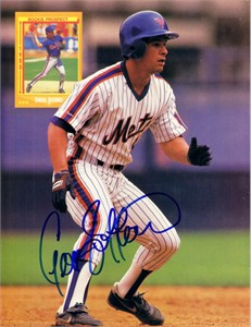 Gregg Jefferies autographed New York Mets Beckett Baseball back cover photo