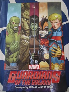 Guardians of the Galaxy Marvel Comics 2014 Comic-Con mini poster