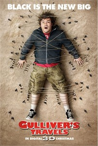 Gulliver's Travels 2010 13x20 mini movie poster (Jack Black)