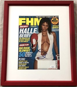 Halle Berry autographed November 2003 FHM magazine