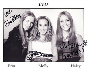 Haley Giraldo Erin Potter Molly Torrence autographed GLO 8x10 photo