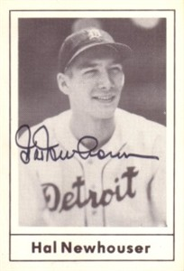 Hal Newhouser autographed Detroit Tigers 1978 Grand Slam card