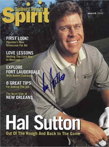 Hal Sutton autographed Southwest Airlines Spirit magazine