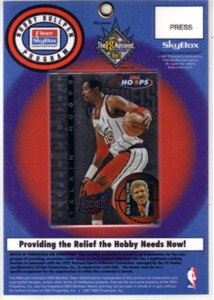 Hakeem Olajuwon 1997 National Convention media badge or credential with laminated Hoops insert card