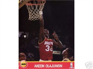 Hakeem Olajuwon Houston Rockets NBA Hoops 8x10 photo