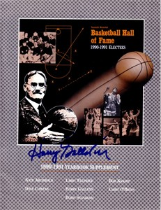 Harry Gallatin autographed 1991 Basketball Hall of Fame Yearbook supplement