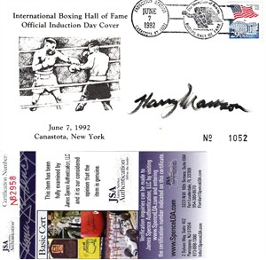 Harry Markson autographed 1992 International Boxing Hall of Fame cachet envelope (JSA)