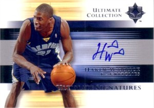 Hakim Warrick certified autograph Memphis Grizzlies Upper Deck card