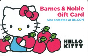 Hello Kitty Barnes and Noble gift card (used)