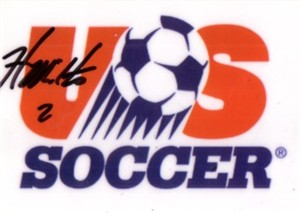 Heather Mitts autographed U.S. Soccer logo card