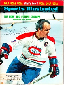 Henri Richard autographed Montreal Canadiens 1973 Sports Illustrated