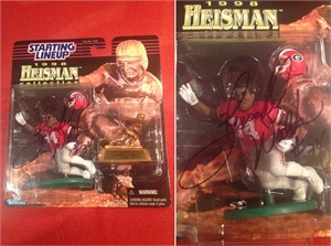 Herschel Walker autographed Georgia Bulldogs 1998 Heisman Collection Kenner Starting Lineup action figure