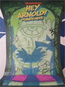 Hey Arnold! cast autographed 2017 Comic-Con poster (Francesca Marie Smith Lane Toran)