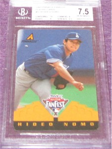 Hideo Nomo 1997 Pinnacle All-Star FanFest Playing Cards BGS graded 7.5 1/1 RARE!