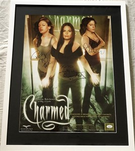 Holly Marie Combs Rose McGowan Alyssa Milano autographed CHARMED 17x22 inch poster