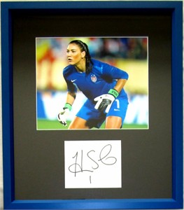 Hope Solo autograph matted & framed with U.S. Soccer 8x10 photo