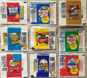 Big lot of 450+ 1986 1987 1988 Donruss Fleer Topps baseball card wax pack wrappers