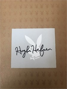 Hugh Hefner autographed Playboy 50 Years The Photographs coffee table book