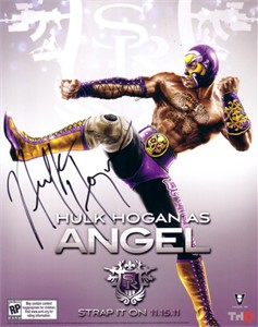 Hulk Hogan autographed Angel 8x10 promo photo