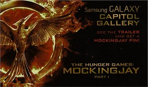Hunger Games Mockingjay movie 2014 Comic-Con exclusive 3x5 inch promo card