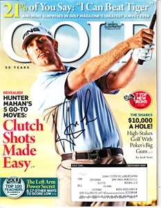 Hunter Mahan autographed 2009 Golf magazine