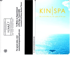 Manchester Grand Hyatt San Diego hotel room key (Kin Spa)
