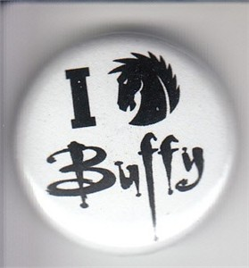 I Love Buffy the Vampire Slayer 2014 Comic-Con Dark Horse button or pin