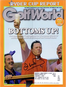 Ian Woosnam autographed 2006 Ryder Cup Golf World magazine