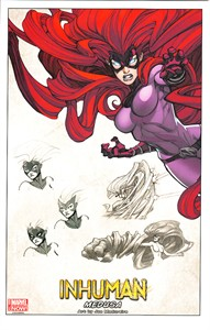 Inhuman Medusa Marvel Comics 2014 Comic-Con promo artwork print