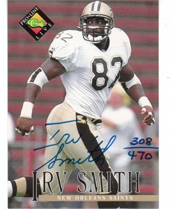 Irv Smith New Orleans Saints certified autograph 1994 Pro Line card