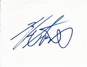 Isao Aoki autographed autograph album or book page