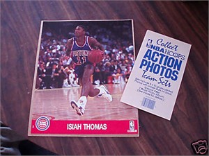 Isiah Thomas Detroit Pistons 1990 NBA Hoops 8x10 photo