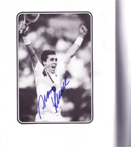 Ivan Lendl autographed Hitting Hot tennis hardcover book