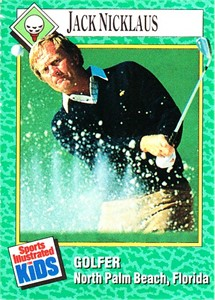 Jack Nicklaus 1990 Sports Illustrated for Kids card #182