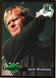 Jack Nicklaus 2001 Legends set of 2 cards (Grand Slam & 6 Time Masters Champion)