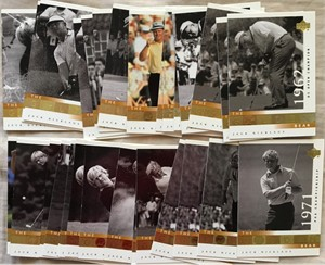 Jack Nicklaus 2001 Upper Deck lot of 30 assorted Golden Bear subset cards